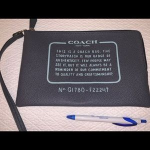 Coach large pouch/ wallet